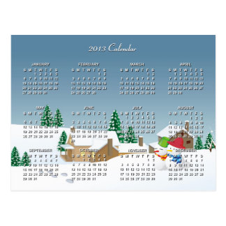 2013 Calendar with Classic Christmas Village | Postcard