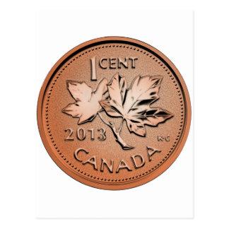 2013 Canadian penny Postcard