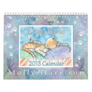 2013 Cat Calendar by Molly Harrison