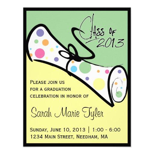 2013 Diploma Graduation Invite