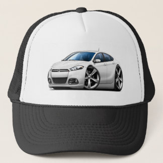 2013 Dodge Dart White Car Trucker Hat