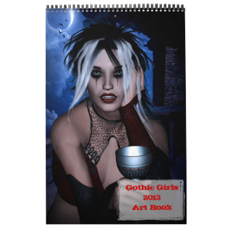 2013 Gothic Girls Art Book Calendar
