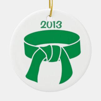 2013 Green Belt Ornament