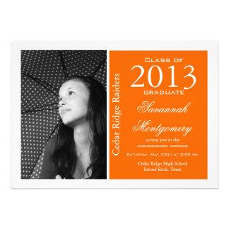 2013 High School Graduation Announcements Orange