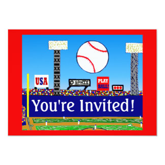 "2013 Kids Sport Baseball Birthday Party Invitation 5"" X 7"" Invitation Card"