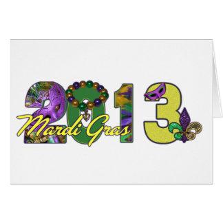 2013 Mardi Gras New Orleans Word Art Card