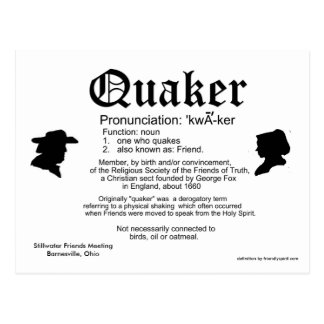 2013 Mini Calendar Definition of a Quaker Postcard