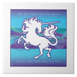 2013 Mink Nest Inspirational Unicorn 6x6 Tile Wht