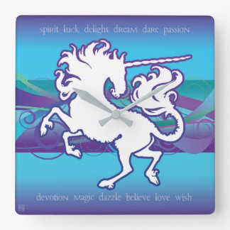 2013 Mink Nest Inspirational Unicorn Clock