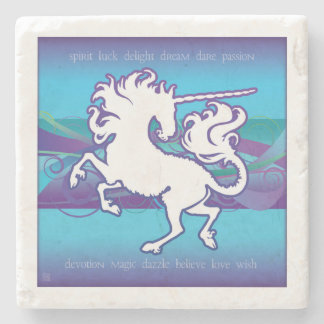 2013 Mink Nest Inspirational Unicorn Stone Coaster