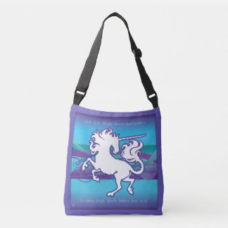 2013 Mink Tote Inspirational Unicorn Crossbody Bag
