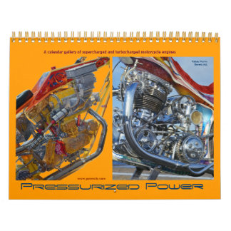 2013 Motorcycle engines - turbocharged and superch Wall Calendar