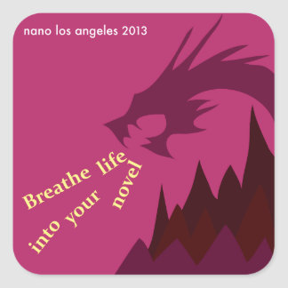 2013 NaNoLA - Breathe Life into Your Novel Square Sticker