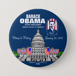 2013 Presidential Inauguration 3 Inch Round Button