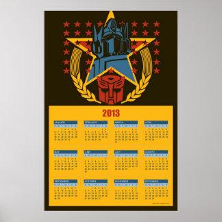 2013 Transformers Autobot Calendar Poster