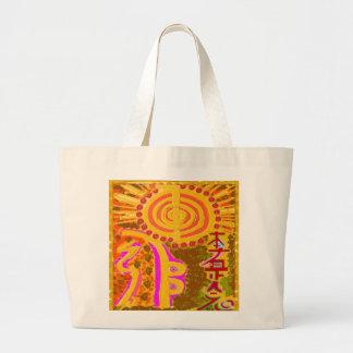 2013 ver. REIKI Healing Symbols Large Tote Bag