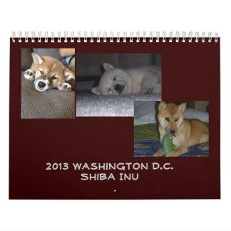 2013 Washington D.C. Shiba Inu Calendar