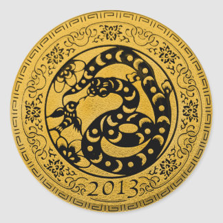 2013 Year of Snake Classic Round Sticker