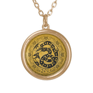 2013 Year of Snake Gold Plated Necklace