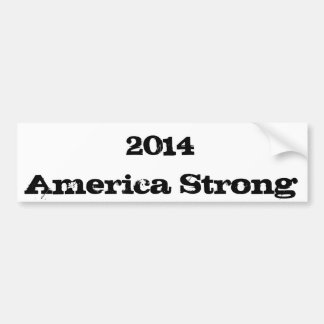 2014 America Strong Bumper Sticker