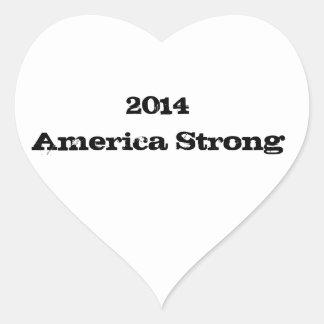 2014  America Strong Heart Sticker