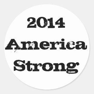 2014 America Strong Round Sticker