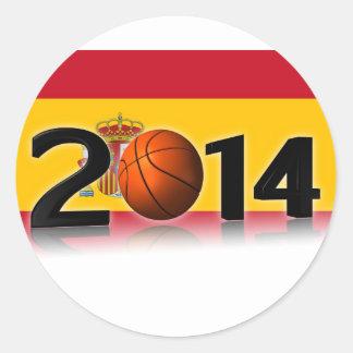 2014 Basketball World Championship Classic Round Sticker