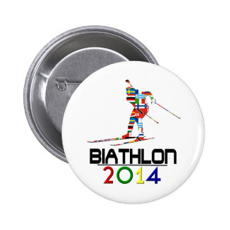 2014: Biathlon 2 Inch Round Button
