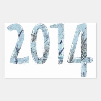 2014-Blue Skies Rectangular Stickers