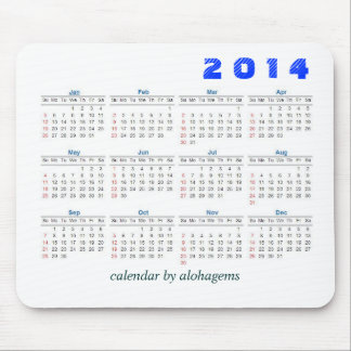 2014 Calendar Mousepad Simple