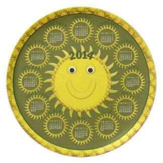 2014 Calendar Plate-Sunshine Face Plate