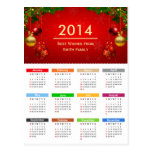 2014 Calendar with Best Wishes Custom Text Post Cards