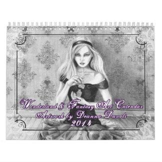 2014 Calendar - Wonderland & Fantasy Art