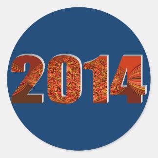 2014 CLASSIC ROUND STICKER