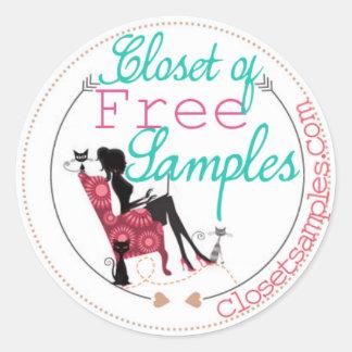 2014 Closet Samples Logo Round Sticker