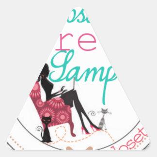 2014 Closet Samples Logo Triangle Stickers