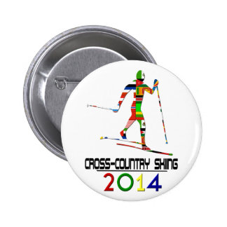 2014: Cross-Country Skiing 2 Inch Round Button