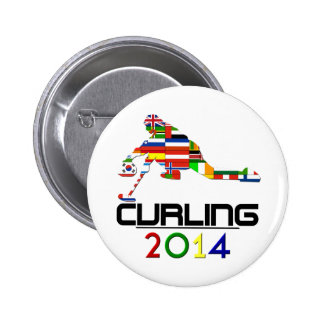 2014: Curling 2 Inch Round Button