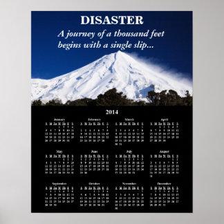 2014 Demotivational Calendar Disaster Poster