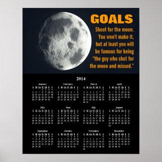 2014 Demotivational Calendar Goal Setting Poster