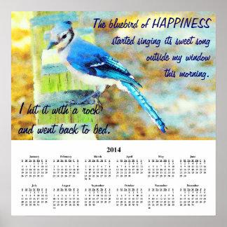 2014 Demotivational Calendar Happiness Print