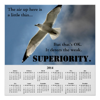 2014 Demotivational Calendar Superiority Posters