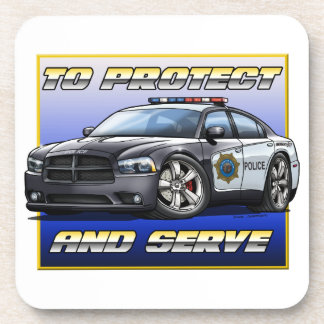 2014 Dodge Charger Police Car 1 Beverage Coasters