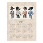 2014 Edwardian Fashion Pocket Calendar Post Card