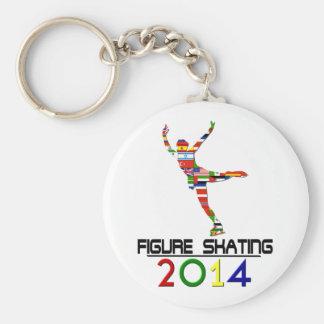 2014: Figure Skating Basic Round Button Keychain