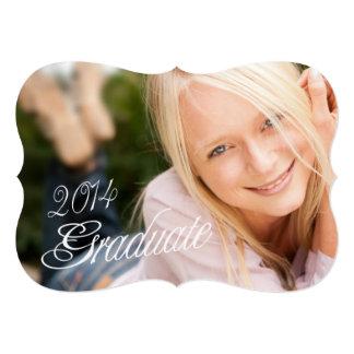 """2014 Grad Girly Photo Graduation Party Invitation 5"""" X 7"""" Invitation Card"""