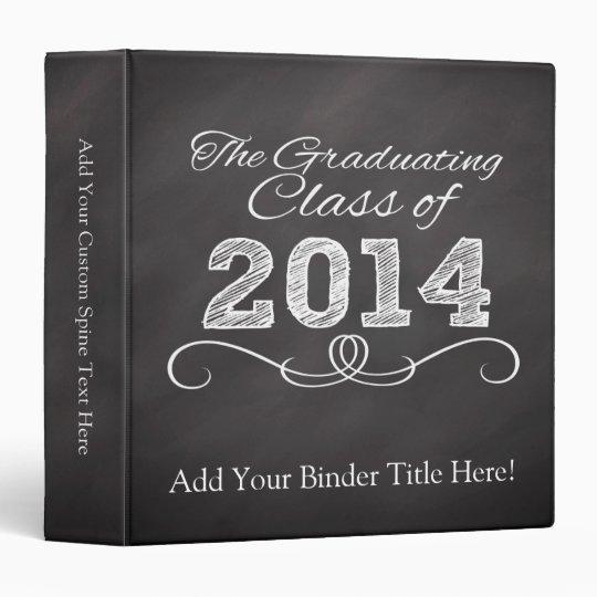 2014 Graduation Chalkboard-Style Notebook Binders