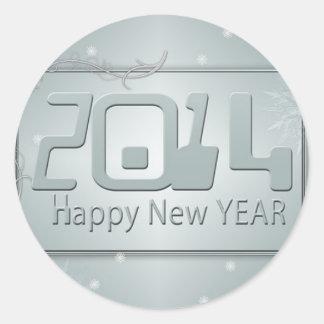 2014 Happy New Year Round Sticker