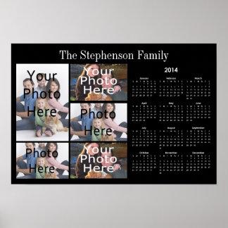 2014 Horizontal Custom Photo Collage Calendar Poster