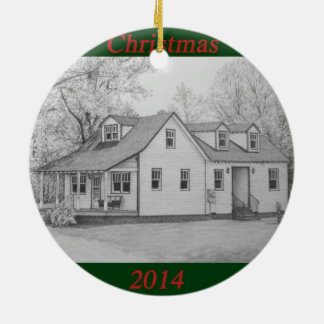 2014 House Ceramic Ornament